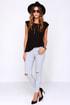 Glamorous Pants De Leon Distressed Light Grey Skinny Jeans at Lulus.com!