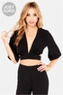 LULUS Exclusive Tie the Hot Black Crop Top