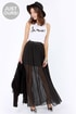 LULUS Exclusive Nice Pleats You Have Black Maxi Skirt