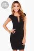 LULUS Exclusive Top Notch Black Midi Dress