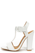 It's Your Gloss White Patent T Strap High Heel Sandals at Lulus.com!