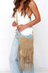 Fringe With Benefits Leather Taupe Purse at Lulus.com!