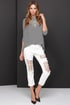Caught in the Riptide Distressed Off-White Jeans at Lulus.com!
