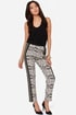 Where It's At Ivory and Black Print Cropped Pants
