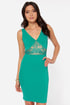 Lady Lovestruck Backless Teal Lace Dress