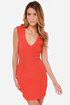 Seams Come True Red Orange Dress