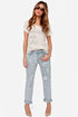 Mink Pink Instinct Blues Distressed Boyfriend Jeans
