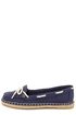 Bamboo Saturday 01 Navy Canvas Deck Shoe Flats