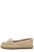 Bamboo Saturday 01 Natural Canvas Deck Shoe Flats