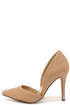 Make an Appearance Natural D'Orsay Pumps at Lulus.com!