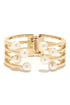 Banded Together Gold and Pearl Cuff at Lulus.com!