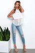 What I Like About You Light Wash Distressed Ankle Skinny Jeans at Lulus.com!