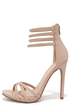On the Prowl Nude Ankle Strap Heels at Lulus.com!