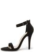 Anne Michelle Enzo 01N Black Nubuck Single Strap Heels at Lulus.com!