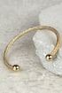 Round the Twist Gold Bracelet at Lulus.com!