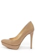 Jessica Simpson Venisse Nude Patent Pointed Platform Pumps at Lulus.com!