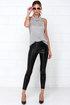 BB Dakota Alyssa Black Vegan Leather Pants at Lulus.com!