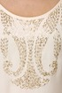 Swan Queen Beaded Cream Dress