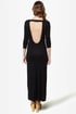 Down to There Backless Black Maxi Dress