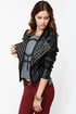 Moto Maven Studded Black Vegan Leather Jacket
