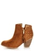 Dollhouse Mayday Chestnut Studded Ankle Boots