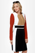 Mod About You Color Block Coat