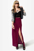 She\'s Got Legs Burgundy Maxi Skirt