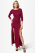 Down to There Backless Burgundy Maxi Dress