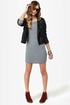 Shipshape Grey and Black Striped Dress