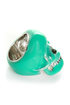 Mad Skulls Teal Skull Ring