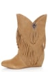 Obsession Rules Hopey Luggage Suede Fringe Wedge Boots
