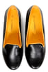 C Label Judy 2 Black and Yellow Smoking Slipper Flats