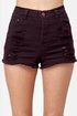 Mink Pink Runaway Phantom Slashed Purple Jean Shorts