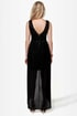 Midnight Magic Black Sequin High-Low Dress