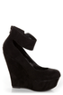 Cilo 41 Black Ankle Strap Platform Wedges