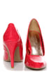 GoMax Ashland 01Z Red Patent Pumps