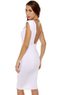 Space Race Midi White Dress