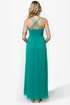 Tug at Your Heart Strings Teal Maxi Dress