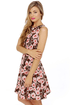 Verbena Flower Floral Print Dress