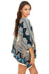 BB Dakota Dupree Blue Print Poncho
