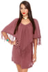 Billabong Washed Up Maroon Poncho Dress