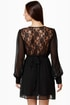 On a Vamp-age Black Lace Dress