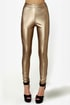 Leader of the Pack Gold Vegan Leather Leggings
