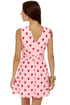 Heartfelt Love Pink Heart Print Dress