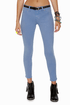 Level 99 Summer Janice Ultra Skinny Cropped Blue Jeggings