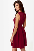 Fair Rosaline Burgundy Lace Dress