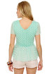 Pep Sister Mint Blue Lace Top