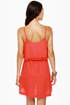 Hurley Indie Coral Red Dress