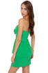 Par for the Corsage Strapless Green Dress