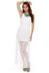 Circle Circle Hot Hot White Lace Maxi Dress